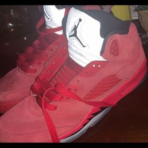 RED SUEDE 5s shoes